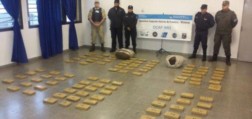 Luego de una persecución atraparon en Candelaria a un narco con 119 kilos de marihuana en el auto