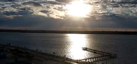 Aumenta la nubosidad y la humedad: mirá como comienza el día desde la costanera de Posadas