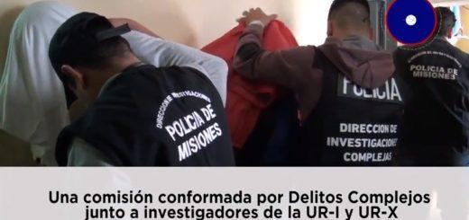 Así trasladaban a los detenidos que cayeron anoche tras un violento atraco en un negocio en Itaembé Miní