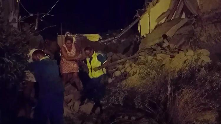 Italia: un sismo dejó un muerto, varios edificios destruidos y desaparecidos cerca de Nápoles