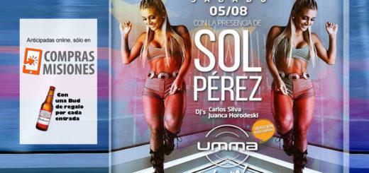 Compras Misiones te vende las anticipadas para estar en Umma con Sol Pérez: Las pagás con tarjeta y te llevás un regalito