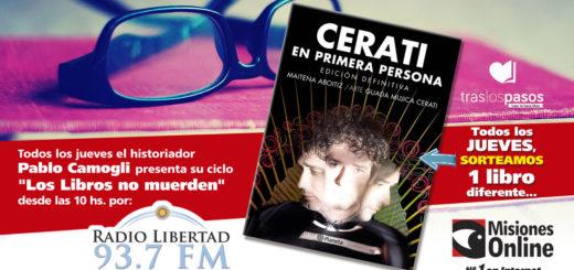 """""""Los libros no muerden"""": Misiones Online sorteará """"Cerati en Primera Persona"""""""