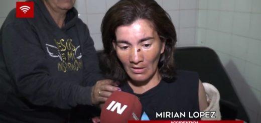 La vendedora ambulante atropellada en el puente por motociclista argentino le reclama ayuda