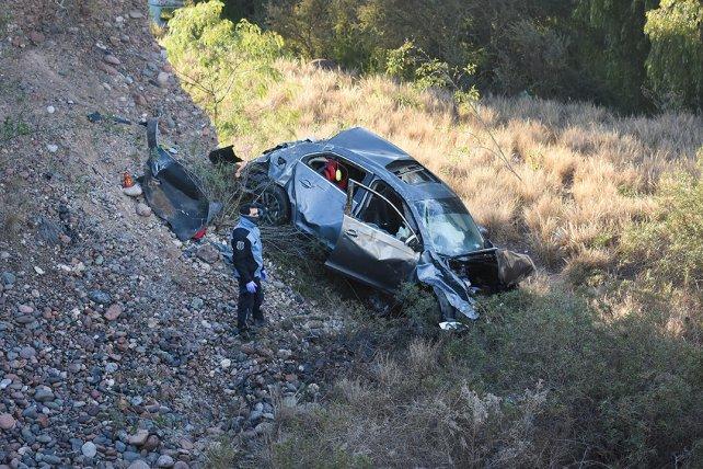 Accidente fatal: perdió el control de su vehículo, volcó y falleció