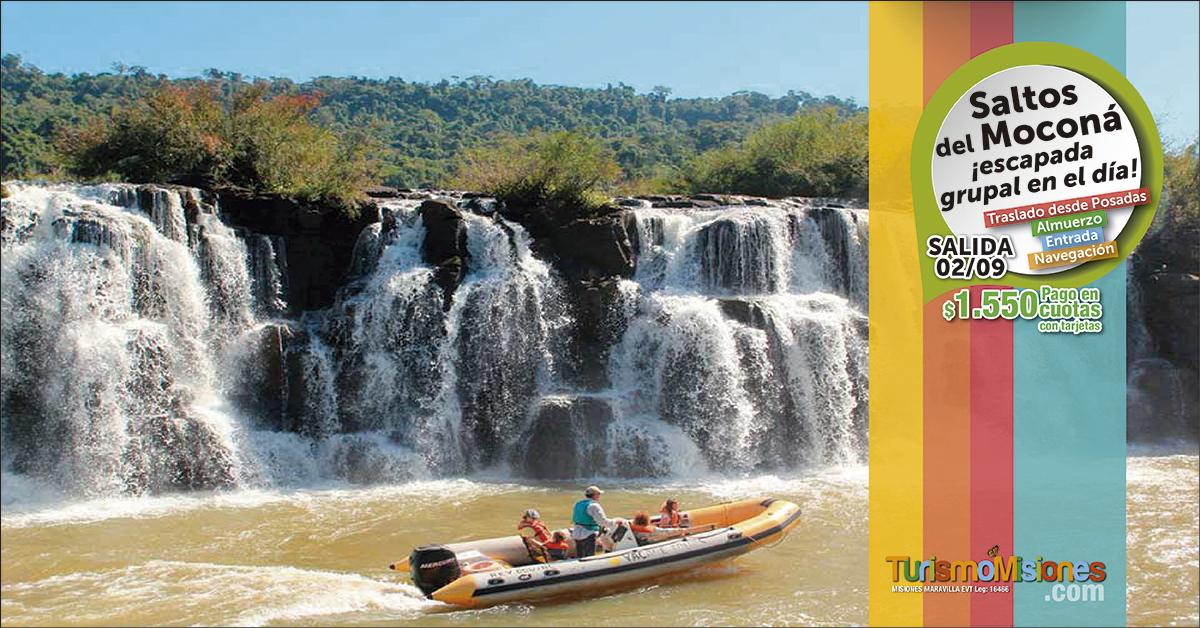 Turismo Misiones te lleva al Moconá y a pasear por la ruta Costera pagando $1.550 y con todo incluido