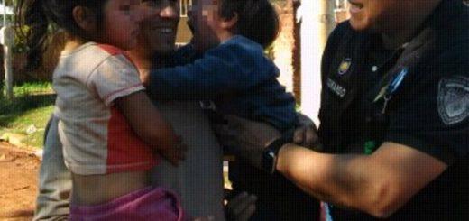 Final feliz en Posadas: hermanitos hallados extraviados se reencontraron con su papá