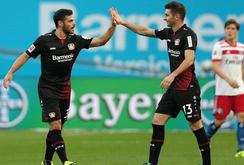 Lucas Alario debutó con un gol y una asistencia en la goleada del Bayer Leverkusen