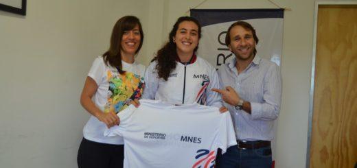 Morgenstern recibió a Analía Zacarías, la misionera que se destaca en BMX Freestyle
