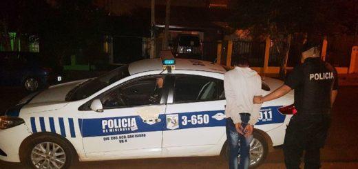 """Posadas: atrapan a """"salta muros"""" infraganti en barrio Hidrelco"""