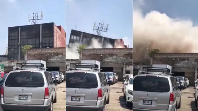 Así se desplomaron algunos edificios tras el potente terremoto en México