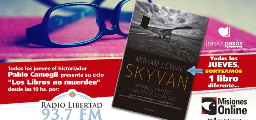 """""""Los libros no muerden"""": Hoy Misiones Online sorteará un ejemplar de """"Skyvan"""""""
