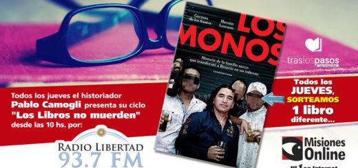 """""""Los libros no muerden"""": hoy Misiones Online sorteó """"Los Monos"""" y el ganador es…"""