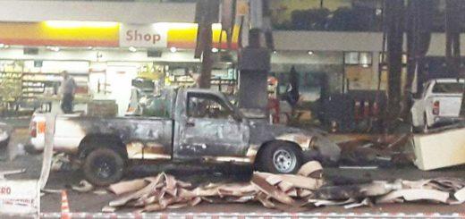 Se incendió una estación de servicio en Eldorado