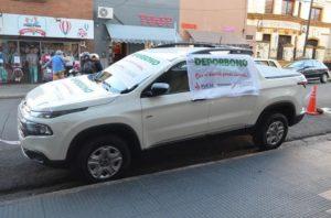 """La camioneta Fiat Toro del """"Deporbono"""" fue vendida por el Club Guaraní Antonio Franco de Posadas"""