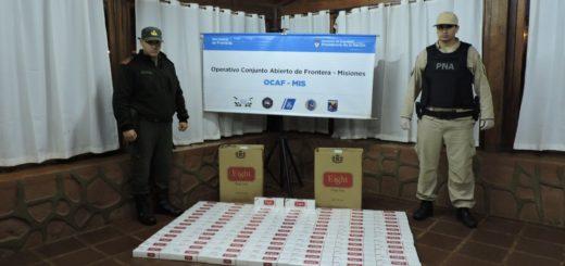 Contrabando: Prefectura decomisó cigarrillos y contrabandos en distintos operativos