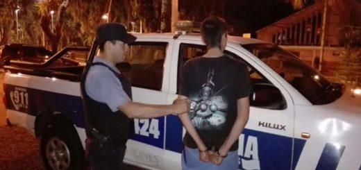 Amenazaba a los transeúntes con un cuchillo en pleno centro de Puerto Iguazú