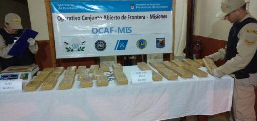 Prefectura detuvo a una persona y secuestró más de 27 kilos de marihuana en Corpus