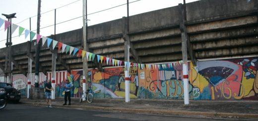 Se inauguró un mural que revive la historia del club Guaraní Antonio Franco