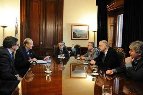 Juanchi Irrazábal participó de un encuentro de senadores con Lorenzo Pepe