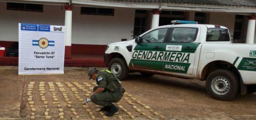 Habían partido de Misiones con una carga de marihuana y los interceptó la GN en Santo Tomé