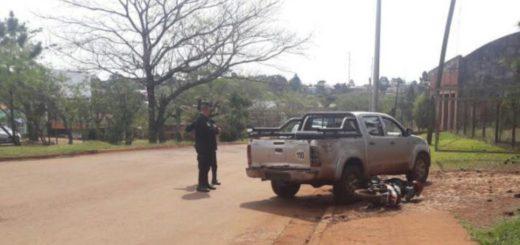 Dos motociclistas heridos en accidentes ocurridos en San Vicente