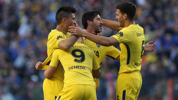 Boca golea 4 a 1 a Godoy Cruz en la Bombonera