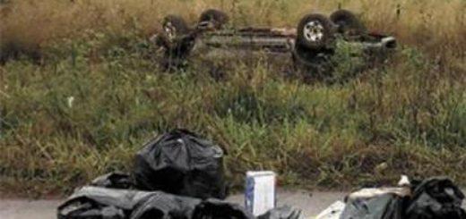 Confundieron a un comerciante obereño con un traficante e hicieron que volcara su camioneta: no murió de milagro