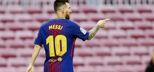 Ante un Camp Nou vacío, Messi fue la gran figura del Barcelona con un doblete y llega en gran forma a la Selección