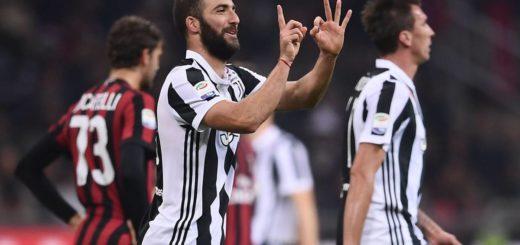 Con dos golazos, Higuaín le dio el triunfo y la punta a la Juventus ante el Milan