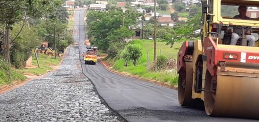 Agradecimiento al gobernador de Misiones por el pavimentado de calles de San Vicente