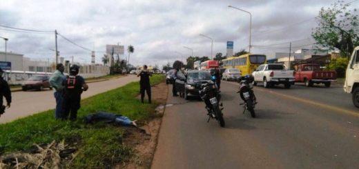 Posadas: unamujer de 80 años murió al intentar cruzar la Ruta Nacional 12