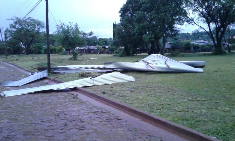 Protección Civil asiste a las comunas afectadas por los temporales de las últimas horas en Misiones