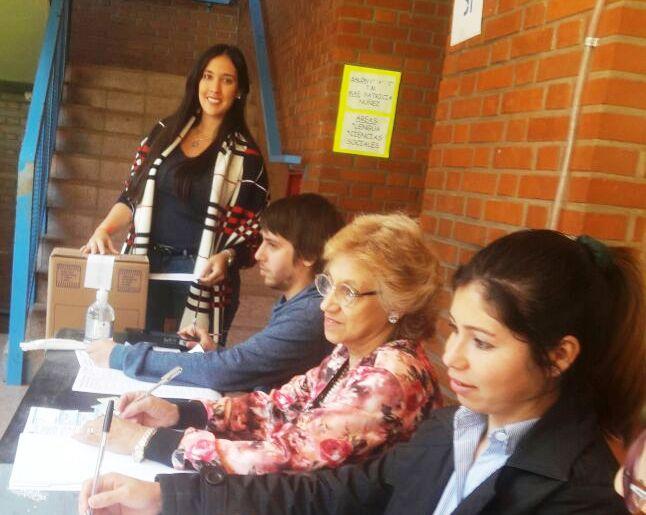 Anahí Repetto, emitió su voto y dijo que hay optimismo por el trabajo realizado hasta la fecha