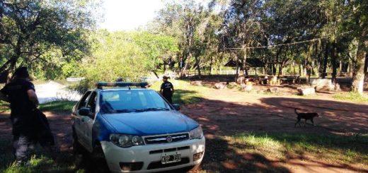 Fuerte operativo policial en zona rural de Itacaruaré