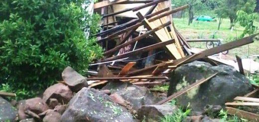 Fuerte temporal de viento y granizo afectó a Campo Viera