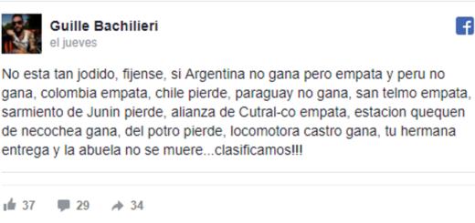 El posteo que fue un éxito tras el empate de Argentina tiene sello misionero