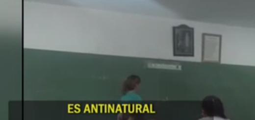 """Una profesora tucumana a sus alumnos: """"La homosexualidad es una enfermedad"""""""