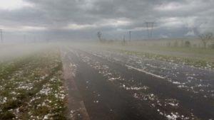 Corrientes: Violento temporal de granizo en la zona de Itá Ibaté e Ituzaingó