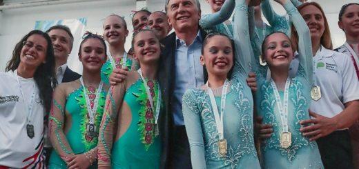 Macri entregó medallas en los Juegos Evita