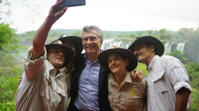 Macri encabezó los festejos por el Día del Guardaparque en el Parque Nacional Iguazú