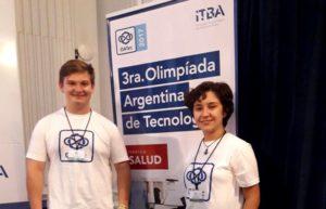 Iván Hertter, estudiante de 4to año del Janssen ganó el primer puesto de las Olimpiadas Argentinas de Tecnología 2017