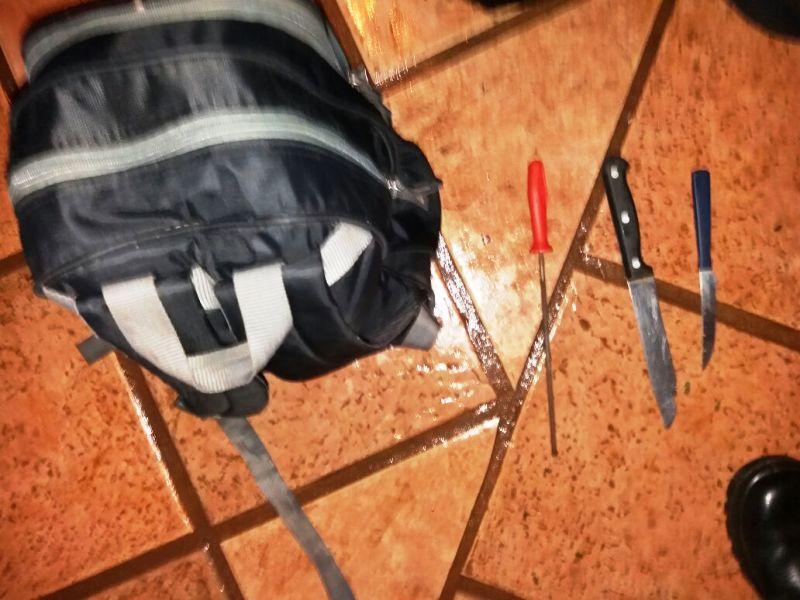 Oberá: armado con cuchillos intentó robar la recaudación a menores «trapitos» y terminó preso