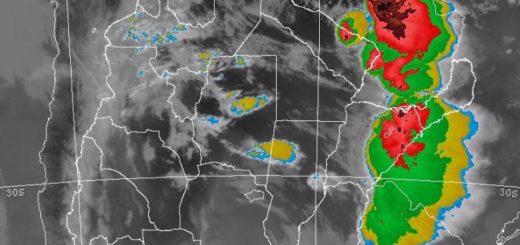 Así está ahorala tormenta que se acerca a Posadas