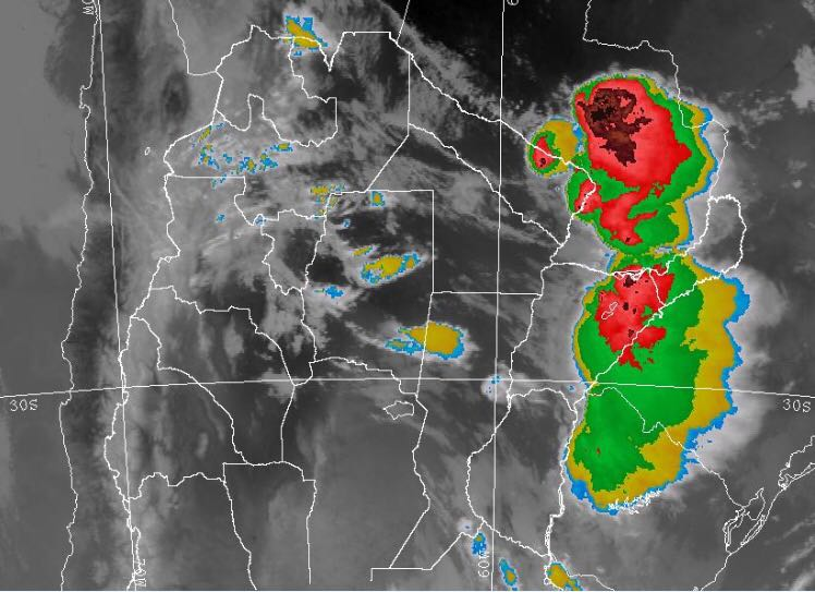 Se esperan fuertes lluvias y granizo para hoy en Misiones