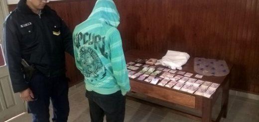"""En Alem detuvieron a un """"albañil infiel"""" y recuperaron más de 20 mil pesos robado a una abuela"""