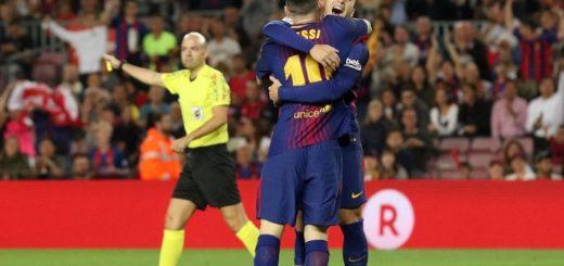Barcelona le ganó al Málaga del Posadeño Rolón