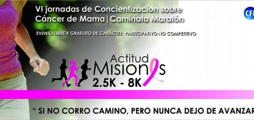 Este sábado se realizan las XI Jornadas de Concientización sobre el Cáncer de Mama, con maratón y varias actividades en la Costanera de Posadas