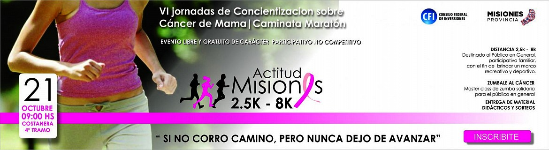 El 21 de octubre se realizan las XI Jornadas de Concientización sobre el Cáncer de Mama, con maratón y varias actividades en la Costanera de Posadas