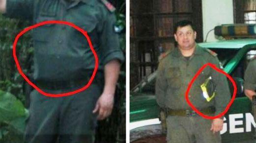 Fin de la polémica: Gendarmería aclaró que lo que el efectivo tenía debajo de la camisa era un chaleco refractario