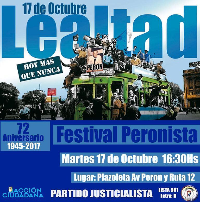 A 72 años, la lealtad sigue intacta: el PJ Misiones hará un festival esta tarde en Villa Lanús